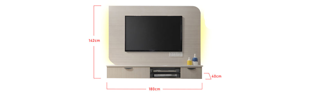 Kehlani 6 Ft. Wall Mounted TV Console With Backlight