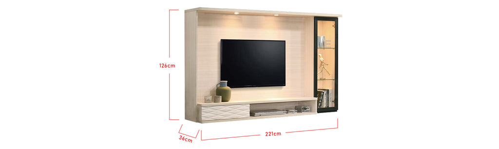 Keilani 7 Ft. Wall Mounted TV Console With Backlight