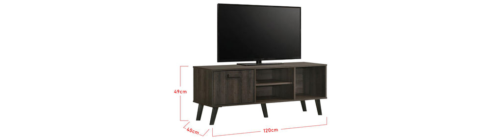 Kenzie Series 4 Ft. TV Console In Black