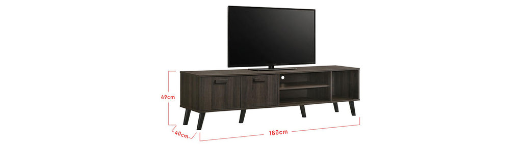 Kenzie Series 6 Ft. TV Console In Black