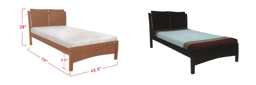 Kerry Wooden Bed Frame Cherry, And Walnut In Super Single Size