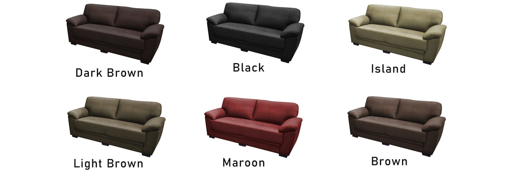 Kinsley 2/ 3 Seater Half Genuine Cowhide Leather Sofa in 6 Colours