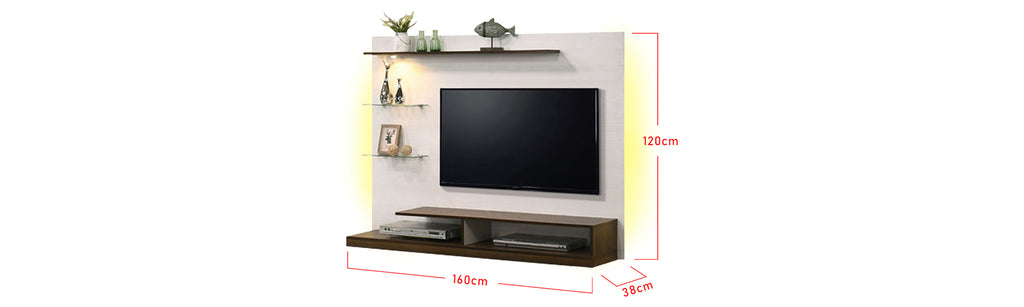 Kylie 5 Ft. Wall Mounted TV Console With Backlight