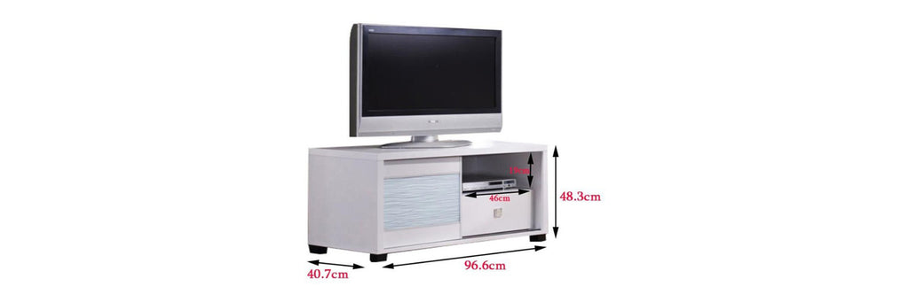 Landry 9 Ft. TV Console In White