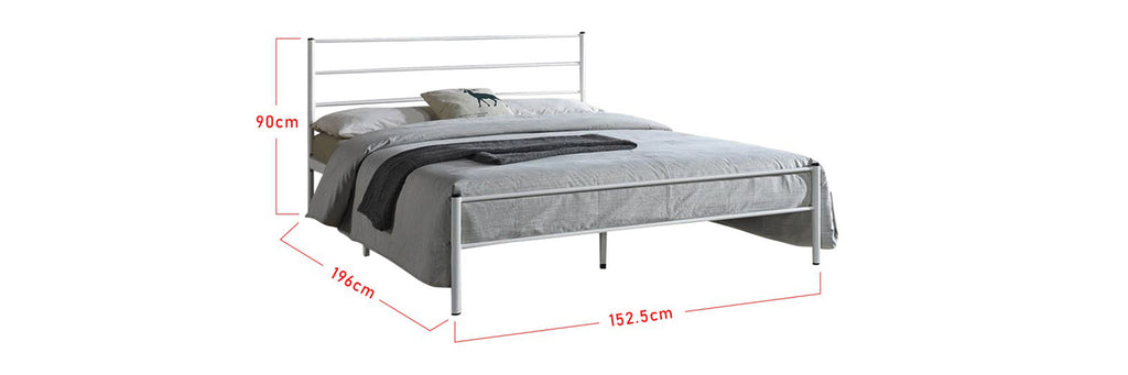 Maggie Series Metal Bed Frame With Foam Mattress In Queen Size