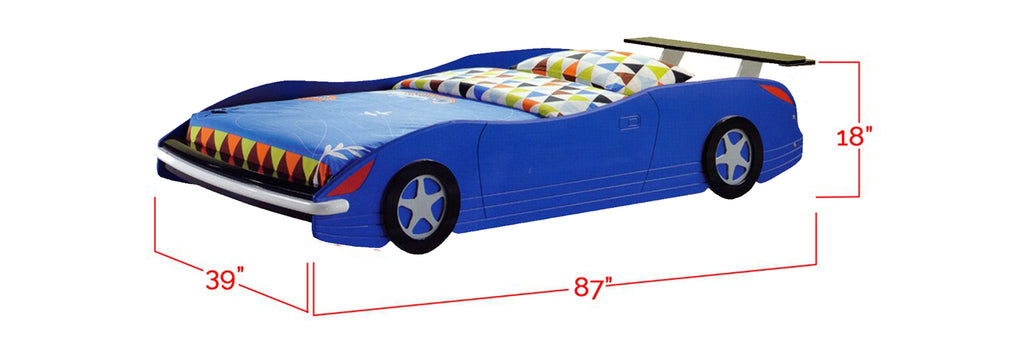 Marc Series 2 Children Car Bed Blue In Single Size