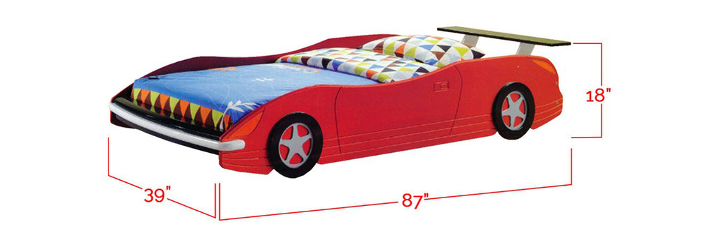 Marc Series 2 Children Car Bed Red In Single Size