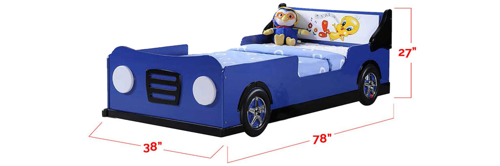 Marc Series Children Car Bed Blue In Single Size