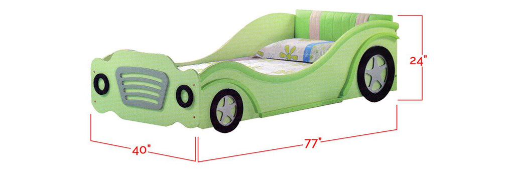 Marc Series Children Car Bed Green In Single Size