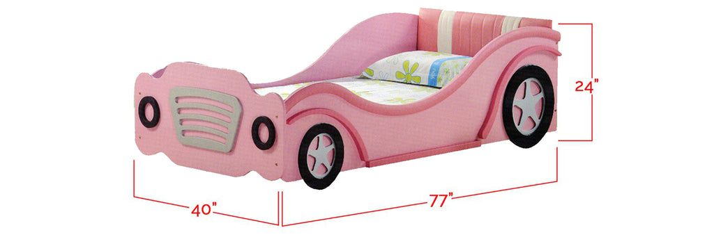 Marc Series Children Car Bed Pink In Single Size