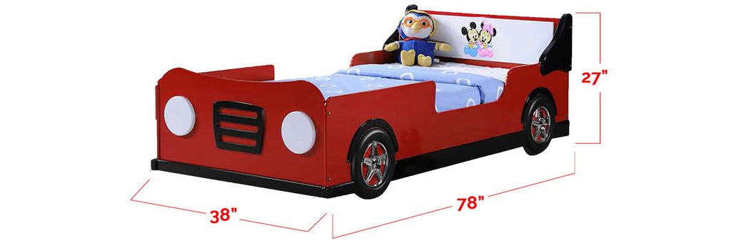 Marc Series Children Car Bed Red In Single Size