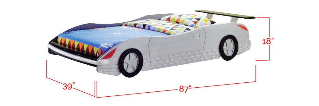 Marc Series Children Car Bed Silver In Single Size