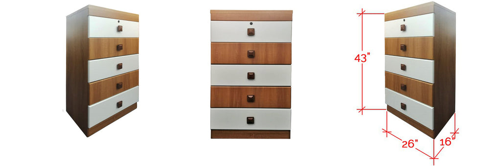 Meir 5 Drawer Chest In Brown White