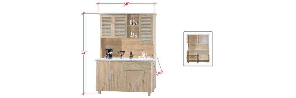 Mica Series 11 Tall Kitchen Cabinet In Natural