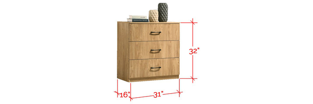 Mio 3 Drawer Chest In Natural