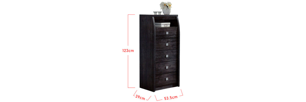 Mix 5 Drawer Chest In Black