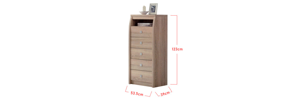 Mix 5 Drawer Chest In Natural