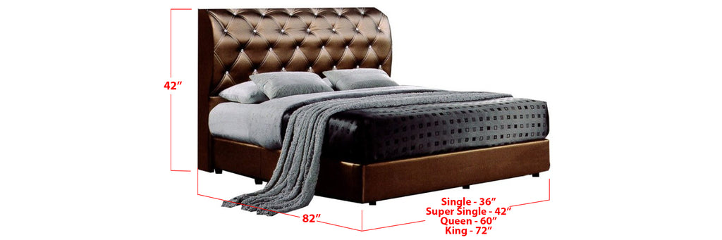 Neema Faux Leather Bed Frame Black In Single, Super Single, Queen, and King Size