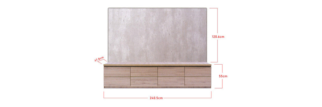 Niana Wall Mounted TV Console In Natural