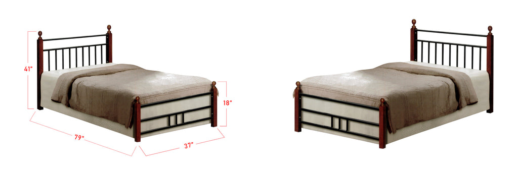 Omri Series 6 Wood Bed Frame White In Single Size