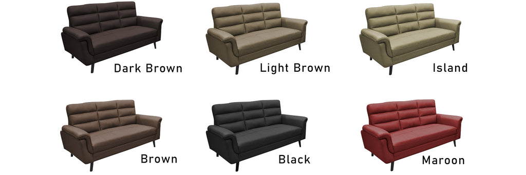 Quinn 1 2 3 Seater Half Genuine Cowhide Leather Sofa in 6 Colours