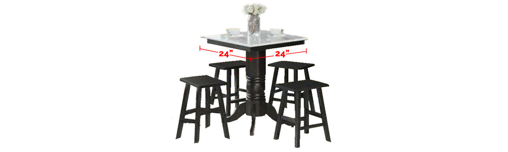 Reigh Series 6 Natural Marble Dining Set In White Black