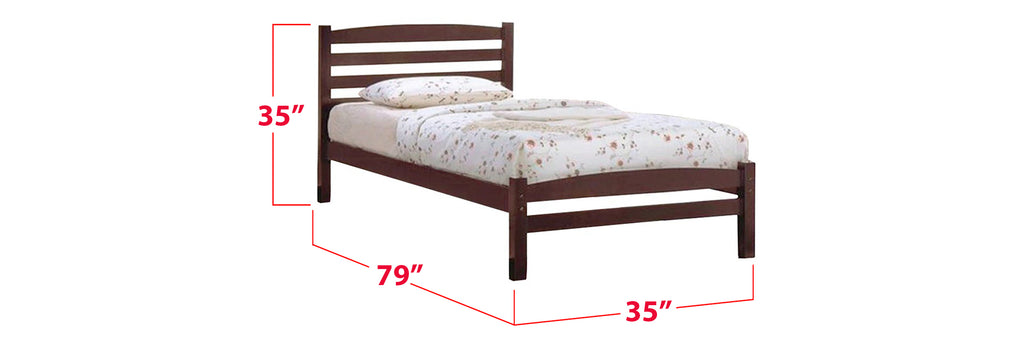 Robby Series 13 Wooden Bed Frame Cappuccino In Single Size