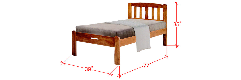 Robby Series 4 Wooden Bed Frame Cherry In Single Size
