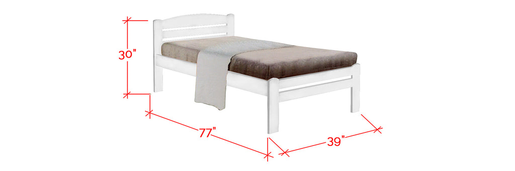 Robby Series 5 Wooden Bed Frame White In Single Size
