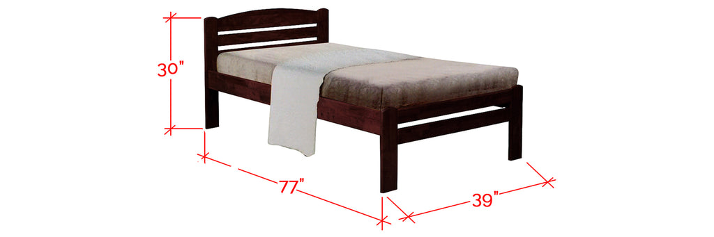 Robby Series 6 Wooden Bed Frame White In Single Size