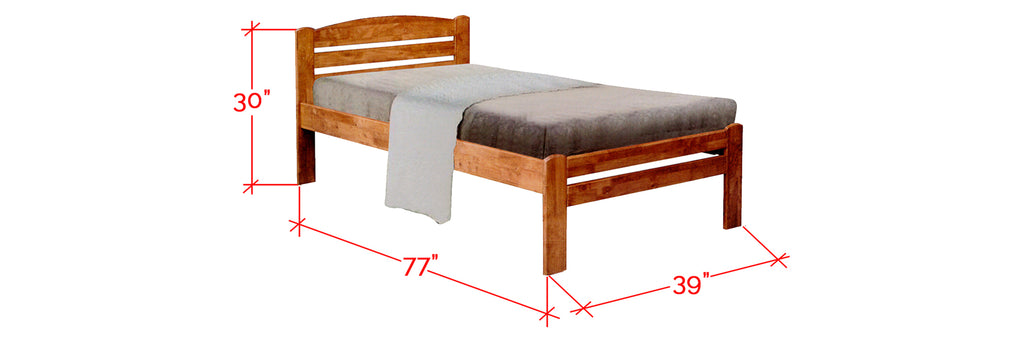 Robby Series 7 Wooden Bed Frame Cherry In Single Size