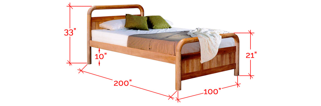 Robby Series 8 Wooden Bed Frame Cherry In Single Size
