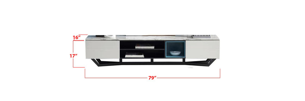 Robin 6 Ft. TV Console In Marble White
