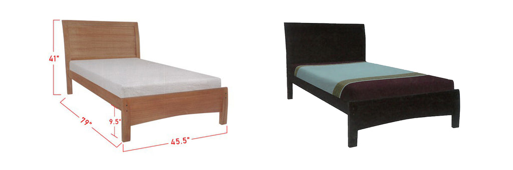Ronie Wooden Bed Frame Cherry, And Walnut In Super Single Size