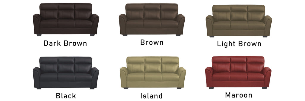 Roul 1 2 3 Seater Half Genuine Cowhide Leather Sofa in 6 Colours