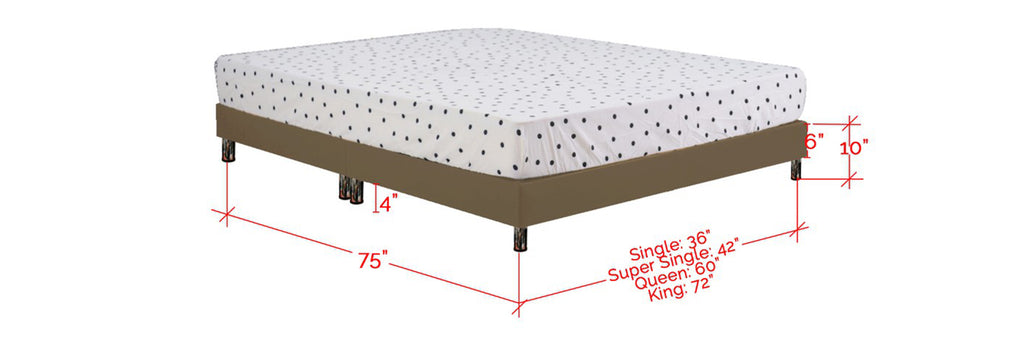 Sendai Series Leather Divan Bed Frame In Single, Super Single, Queen and King Size
