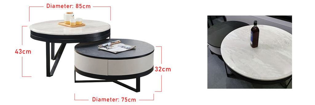 Sharie Series 12 Square Coffee Table In White/ Black