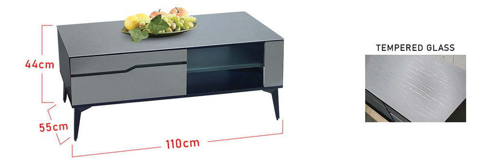 Sharie Series 1 Rectangle Coffee Table In Grey