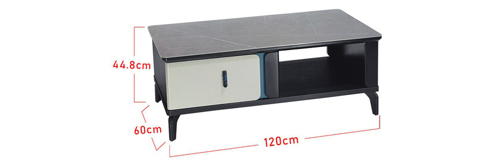 Sharie Series 4 Rectangle Coffee Table In Black/ White