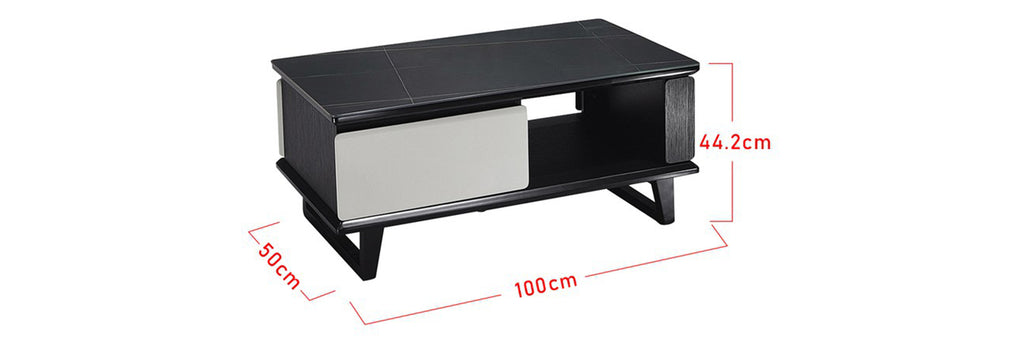 Sharie Series 6 Rectangle Coffee Table In Black/ White
