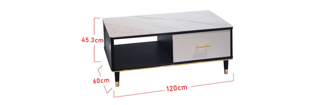Sharie Series 7 Rectangle Coffee Table In Black White