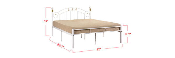 Suzana Series 11 Metal Bed Frame White In Queen Size