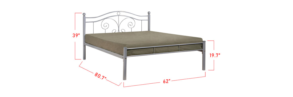Suzana Series 12 Metal Bed Frame White In Queen Size