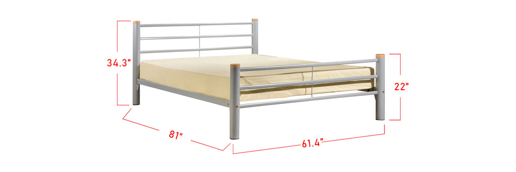 Suzana Series 14 Metal Bed Frame White In Queen Size