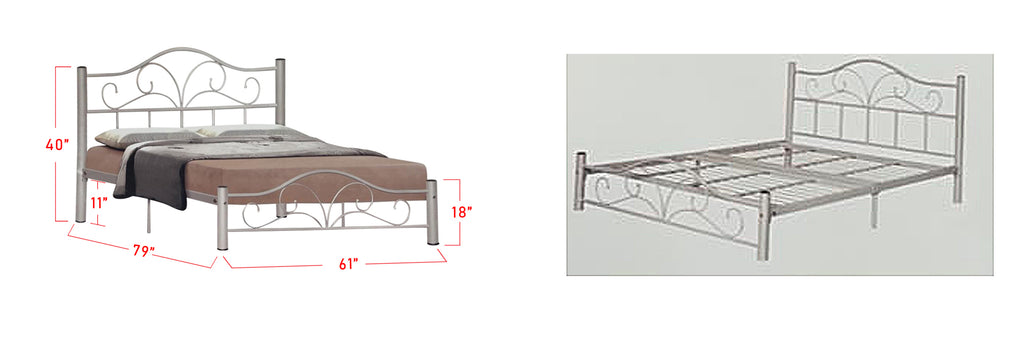 Suzana Series 9 Metal Bed Frame White In Queen Size