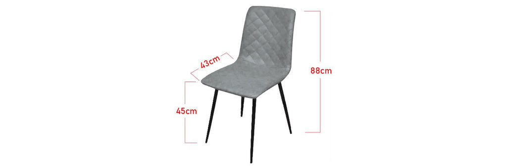 Tucker Faux Leather Dining Chair In Grey