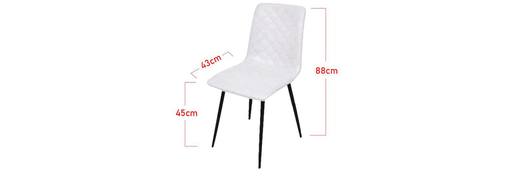 Tucker Faux Leather Dining Chair In White