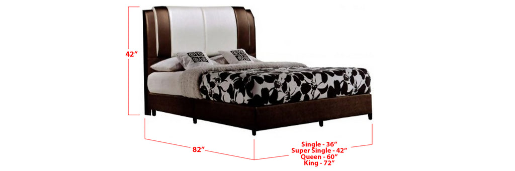 Wynne Faux Leather Bed Frame Beige In Single, Super Single, Queen, and King Size