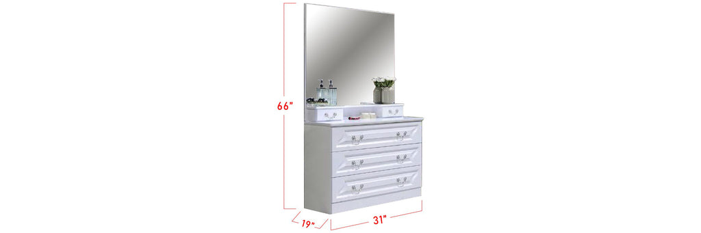Yoon Series A Korean Style Dressing Table In White
