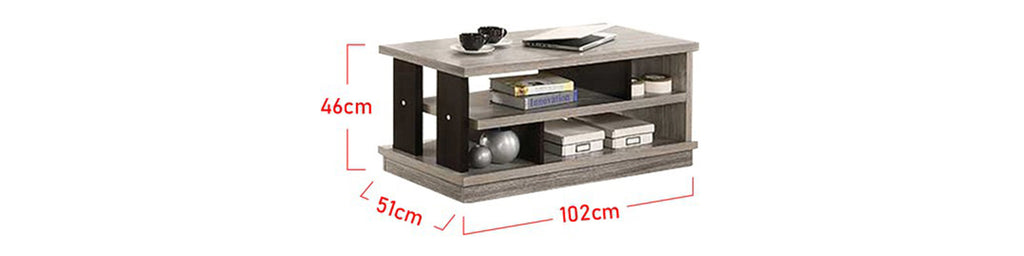 Zahra Series 1 Coffee Table In Grey Black